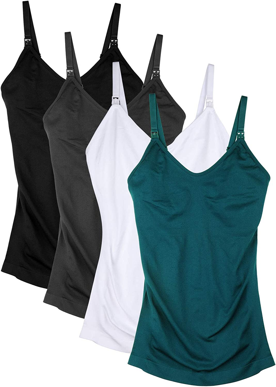 DAISITY Women's Nursing Tank Top Cami Maternity Bra Breastfeeding Shirts at  Women's Clothing store