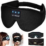 3D Sleep Mask Bluetooth, Sleep Headphones Music Eye Cover Headsets Travel Built-in HD Ultra Soft Thin Speakers Microphones Fo