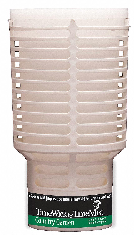 TimeMist 676122TM TimeWick Refill NonMetered Air Freshener, Country Garden (6-Pack)