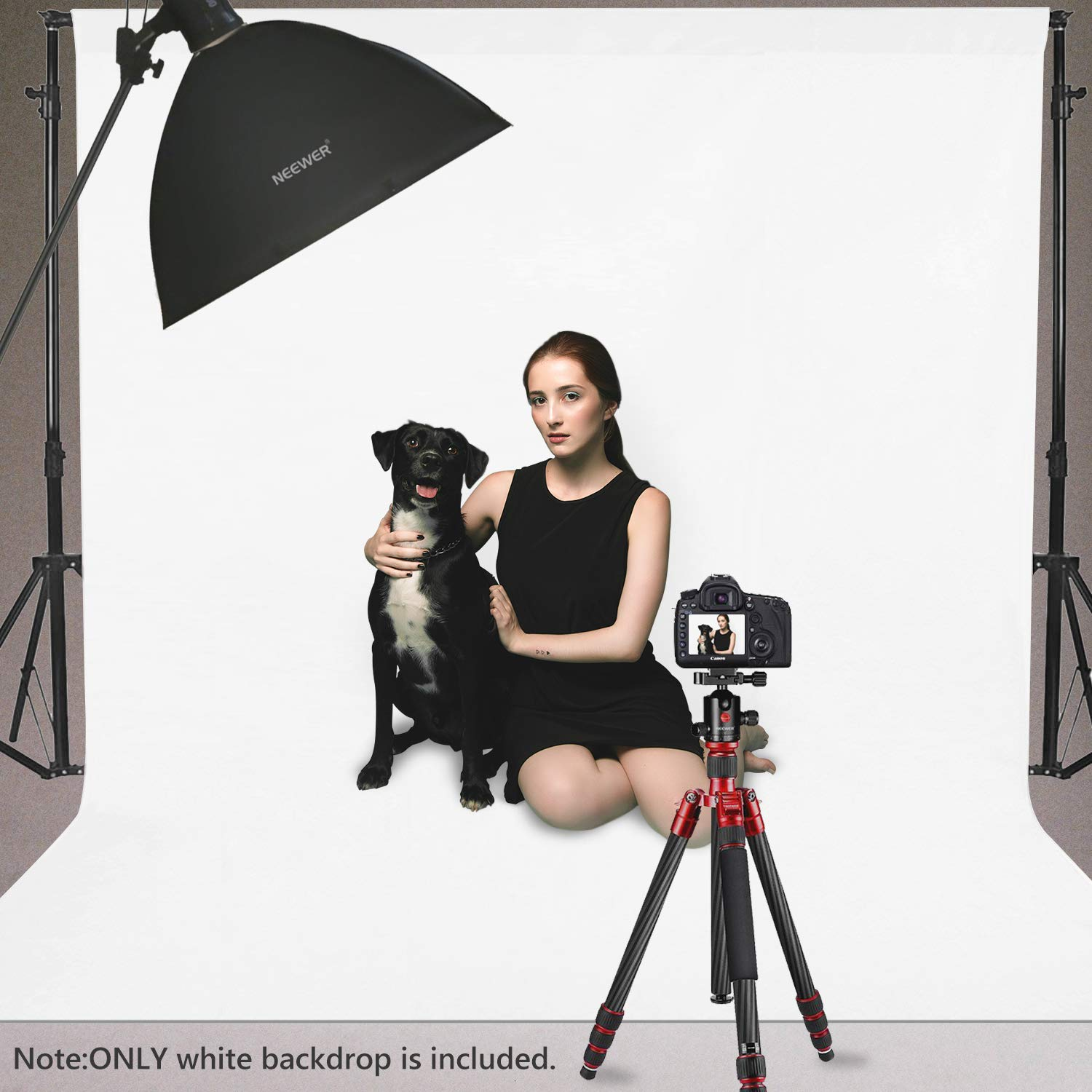 Neewer 10 x 12FT / 3 x 3.6M PRO Photo Studio Fabric Collapsible Backdrop Background for Photography,Video and Televison (Background ONLY) - White by Neewer (Image #3)