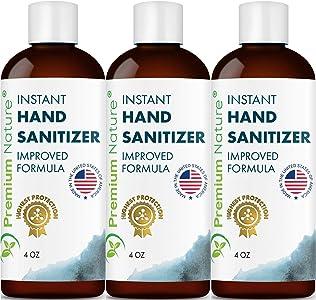 Instant Hand Sanitize Gel - 3 Pack Value Size Advanced Natural Hand...