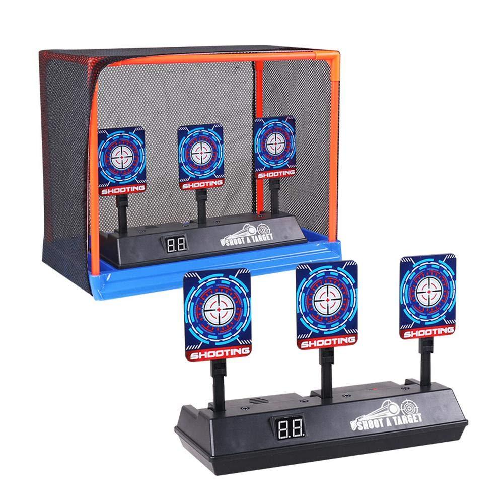 Obiettivo di Tiro Auto-Reset Elettronico Tiro per Pistole Nerf Serie N-Strike Elite//Mega//Rival con Effetto sonoro di Luce Intelligente Lif/éUP Bersaglio per Nerf