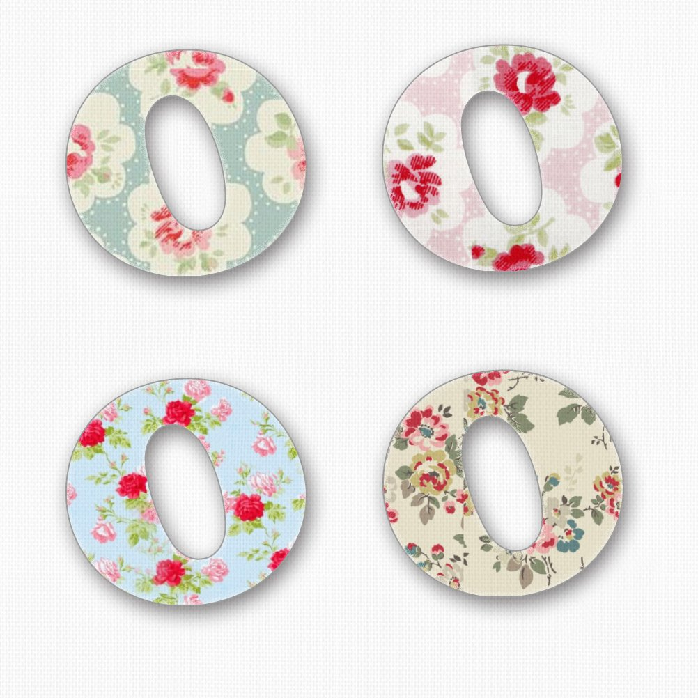 A - /£1.40 per letter uk-8-A 28mm Pink Pineapple Floral Wooden Alphabet Great for Personalising Walls Doors Toy Boxes