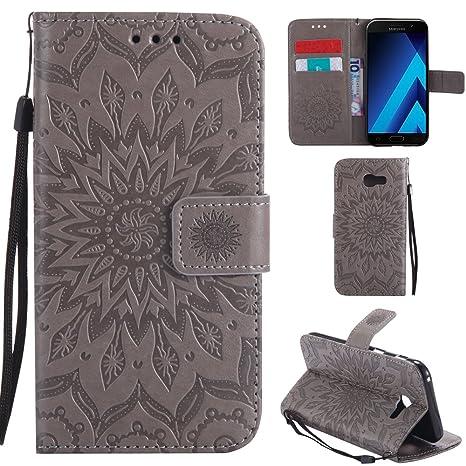 Ooboom® Samsung Galaxy A5 2017 Coque Motif Tournesol PU Cuir Flip Housse  Étui Cover Case 2bcea4b78d7