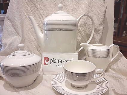PIERRE CARDIN JUEGO DE PLATOS 100 PIEZAS VAJILLA THE CAFFE TAZAS