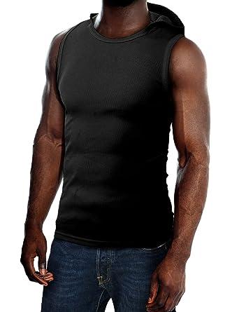H2H Mens Active Slim Fit Tank Top Sleeveless Hoodie Lightweight Basic Designed
