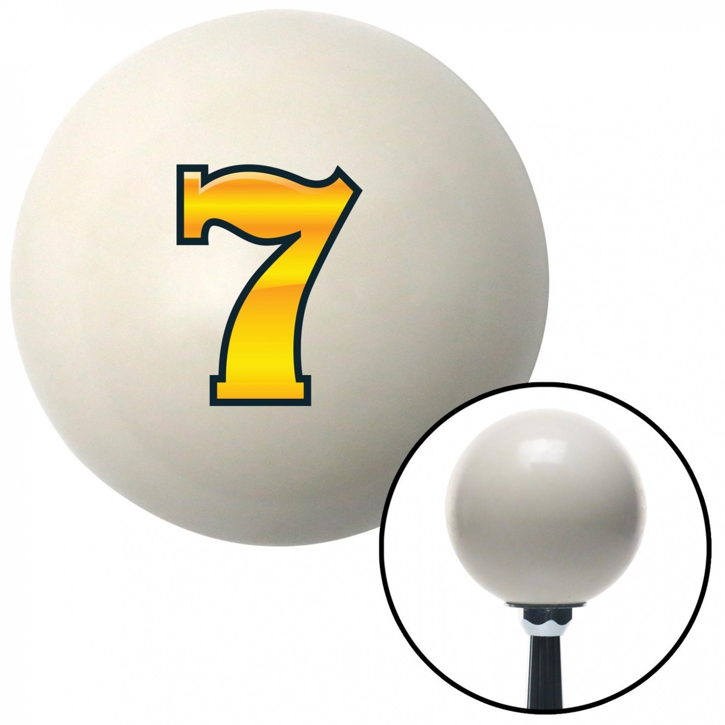 American Shifter 42400 Ivory Shift Knob with 16mm x 1.5 Insert 7 Gold