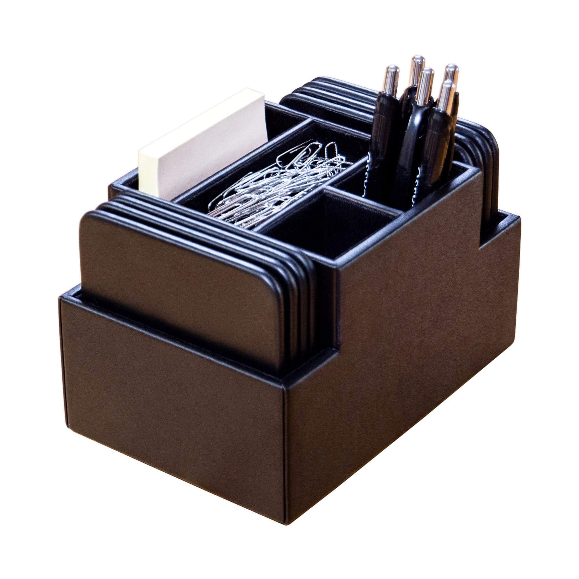 Dacasso Desk Organizer, 6.8125 x 4.8125 x 4.375, Black