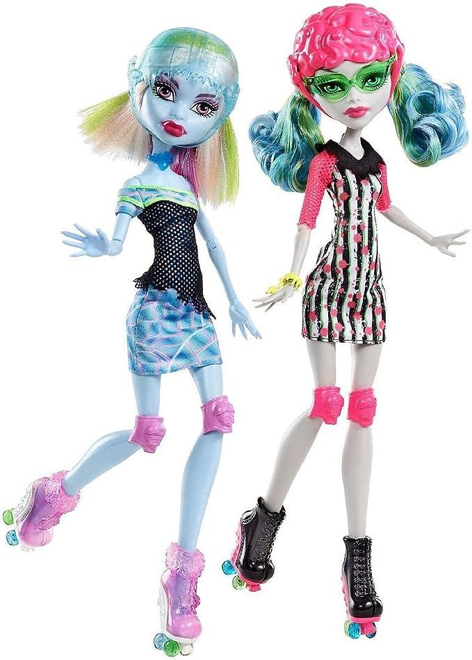 Amazon.es: Monster High Exclusivo Skultimate Roller Maze Ghoulia Yelps & Abbey Bominable Muñeca 2 pack: Juguetes y juegos