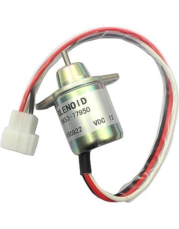 3 Month Warranty SINOCMP CP-U0313 Cut Off Solenoid For Kubota Z482 Denso BX7410D BX2230D RTV900R RTV900T B7410D BX1500D BX1800D 052600-4530 052600-4531 16851-60014 12V Fuel Stop Solenoid