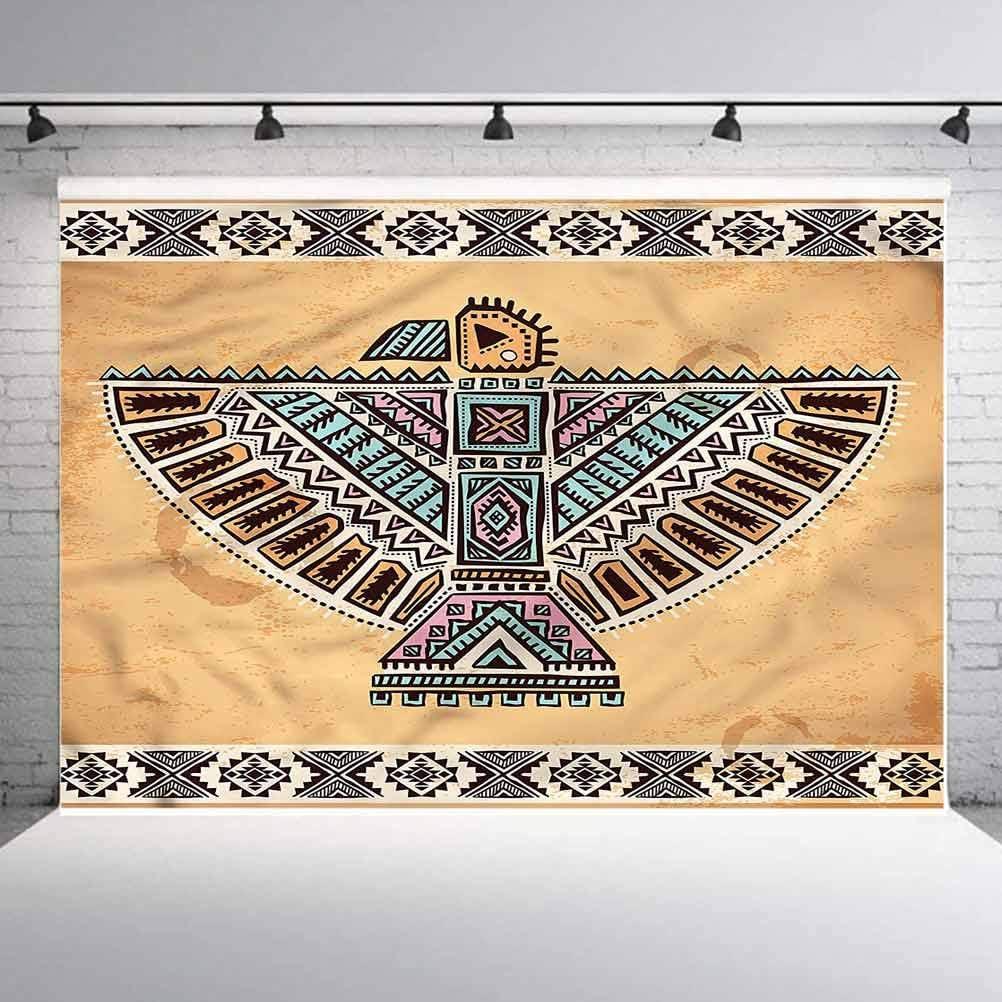 6x6FT Vinyl Photo Backdrops,Aztec,Folk Bird Figure Open Wings Photoshoot Props Photo Background Studio Prop