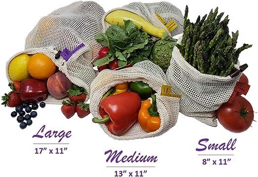 GINEVE - Bolsas de productos reutilizables para frutas y verduras ...