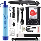 SUPOLOGY Camping Accessories Survival Gear Kits, 23-in-1 Tactical Equipments Outdoor Gear Emergency Kits for Camping, Hiking, Adventures, Backpack, Fishing, Hurricane, Gifts for Men Fathers Day
