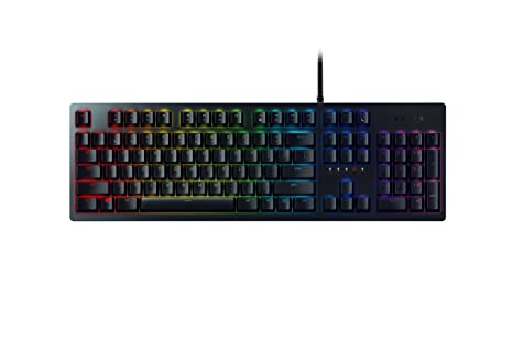 Razer Huntsman Mechanische Gaming Tastatur (mit Opto-Mechanical Schaltern, Lebensdauer von 100 Millionen Tastenanschlägen, RG