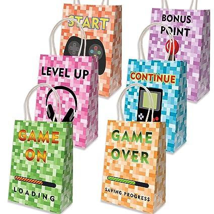 Amazon.com: Bolsas de papel de regalo de 12 píxeles para ...