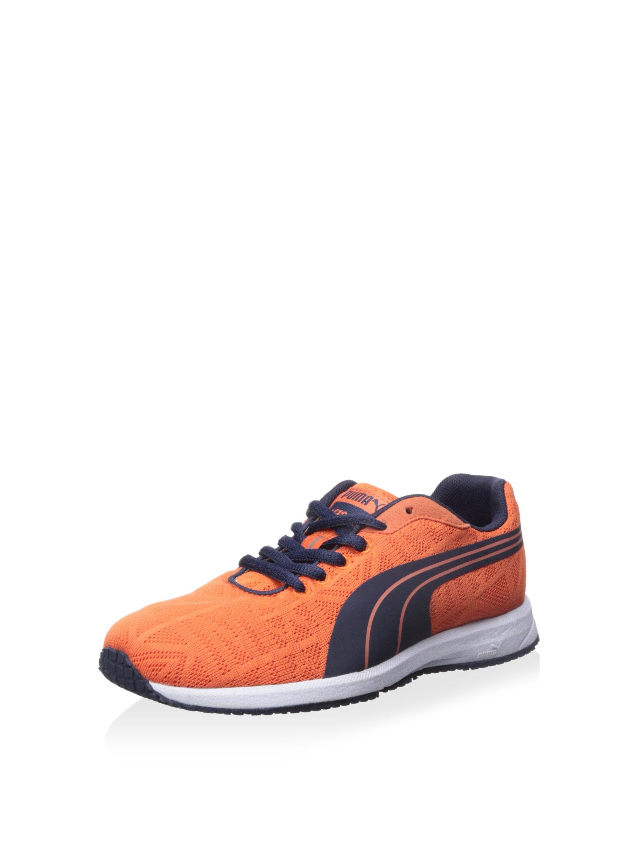 PUMA Kid's Narita V2 JR Sneaker, Nasturtium/Peacoat, 1.5 US Little Kid