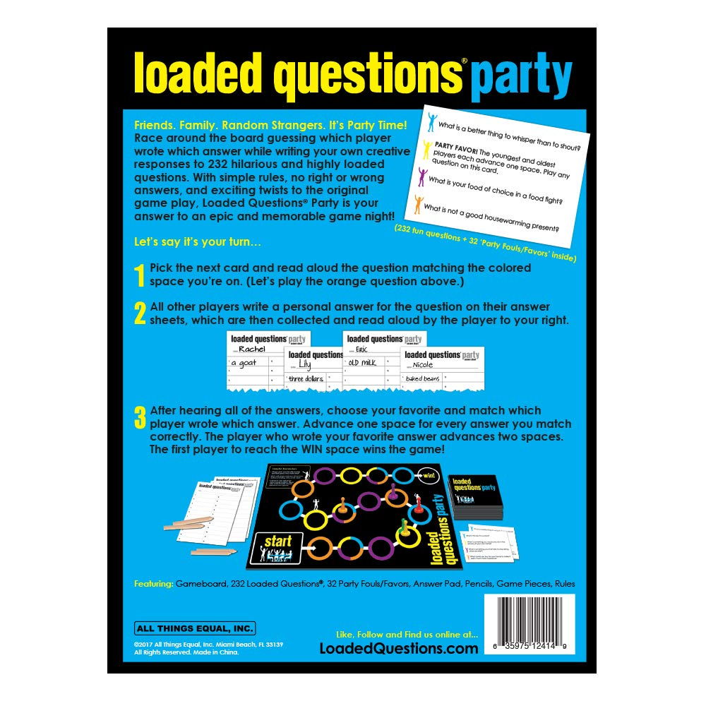 fd4d37651ee Amazon.com  Loaded Questions Party - An Epic Party Game of Fun Questions