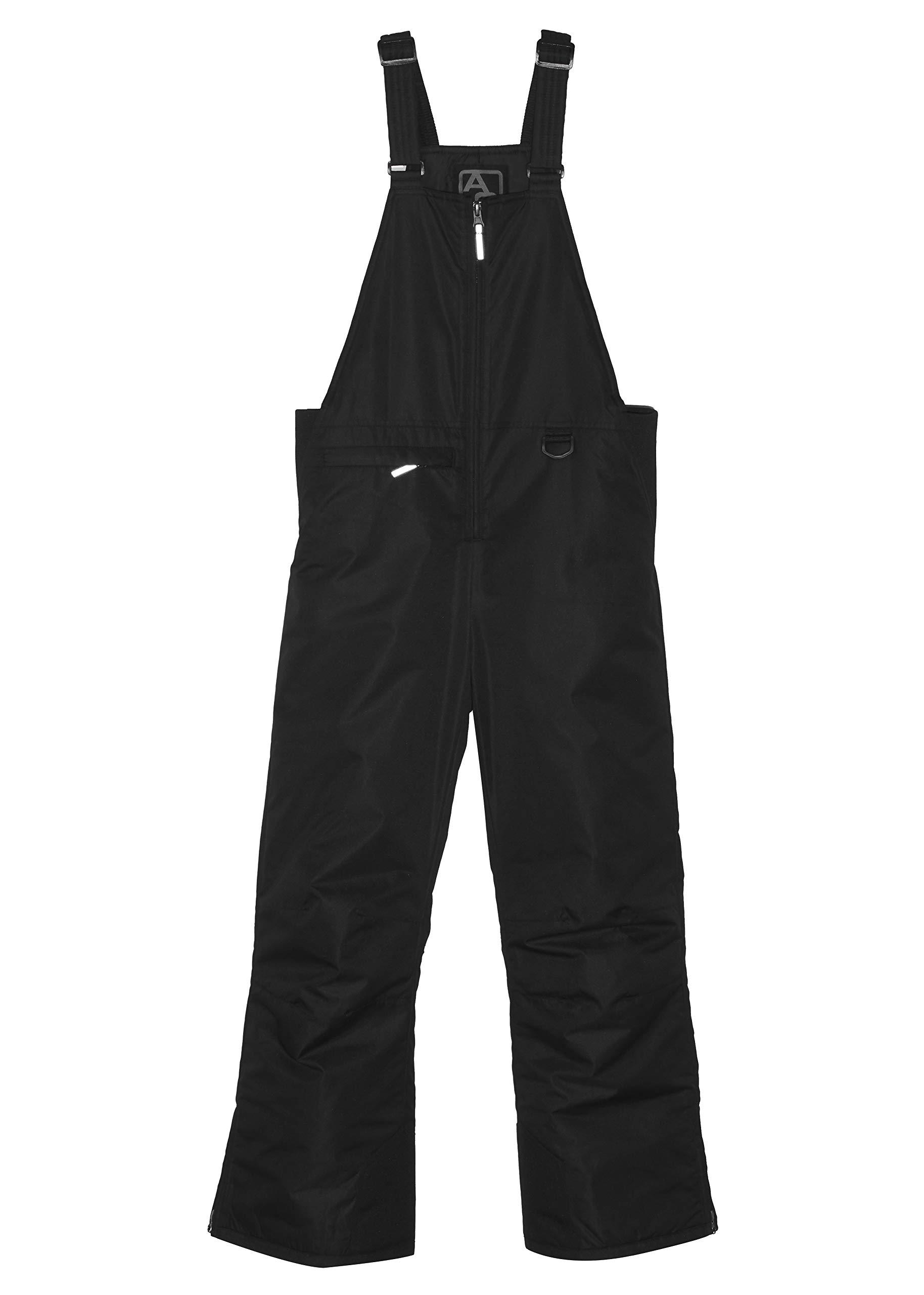 Arctic Quest Unisex Boys and Girls Unisex Ski & Snow Bib Overall, Black, 12/14
