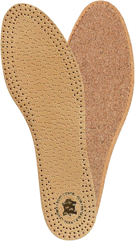 Kaps PECARI Plantillas de Zapatos de Corcho de Primera Calidad Hechas de Cuero de Piel de Oveja con Curtido Vegetal de Alta Calidad y Corcho Natural, Elegantes y Cómodas, Todas las Tallas