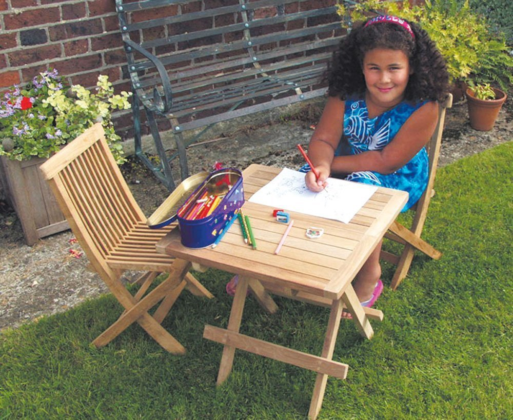 Jati Straight Slat Picnic Table - A - Grade Teak Folding Garden Coffee Table Brand, Quality & Value