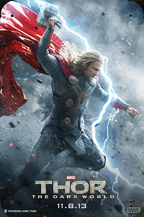 Thor The Dark World Ver3 pelicula metal poster cartel ...