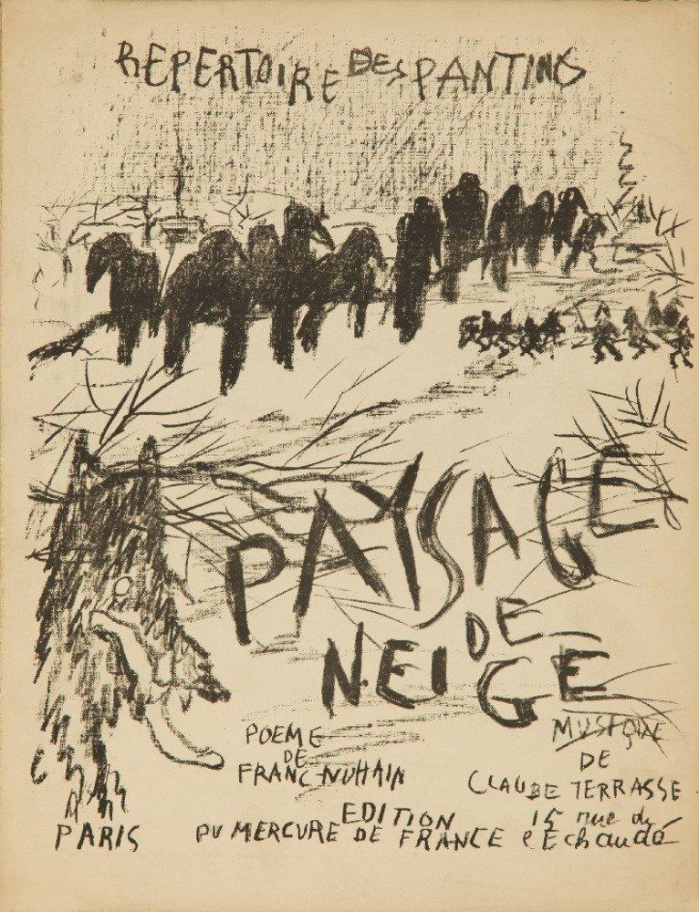 Repertoire Des Pantins : 3 Songsheetsヴィンテージポスター(アーティスト:ボナール)パリC。1898 36 x 54 Giclee Print LANT-63894-36x54 36 x 54 Giclee Print  B01M67IJM4