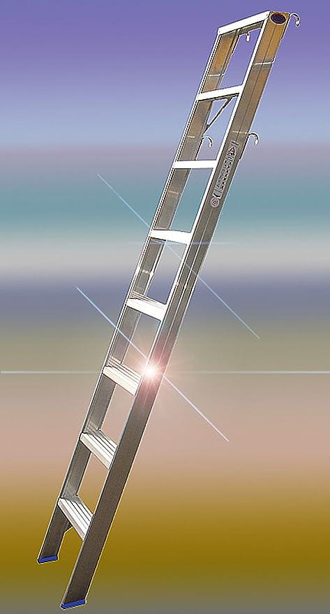 Estantería Escalera Incluye 2 pares – Ganchos para colgar 8 peldaños toda niveles para montaje vertical Altura V. 2,00 m Ah aprox. 3,50 m, ideal para alta Armarios y estanterías,: Amazon.es: Bricolaje y herramientas