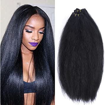 Kinky Straight Yaki 4 Pieces Hair Extensions