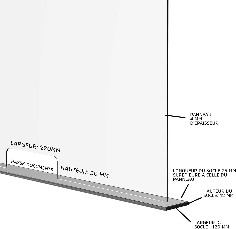 Solarplexius Mamparas de Protección, Escudo de Acrílico Transparente Plexiglass para Mostradores y Ventillas de Transacciones, Protección contra Estornudos y Tos (90 x 50 cm): Amazon.es: Hogar