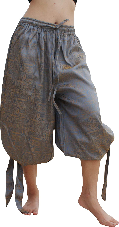 RaanPahMuang Side Tied Leg Plain Silk Cotton Buccaneer Pirate Swashbuckling Pants