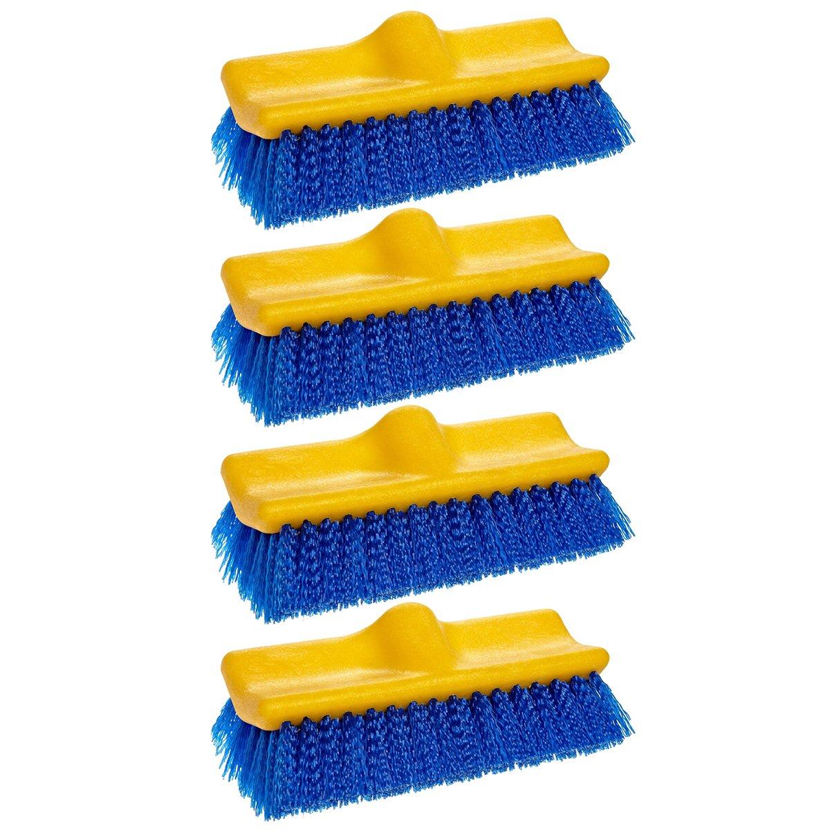 Rubbermaid Commercial Floor Scrub Brush, 10'', Blue, FG633700BLUE (4 Brushes)