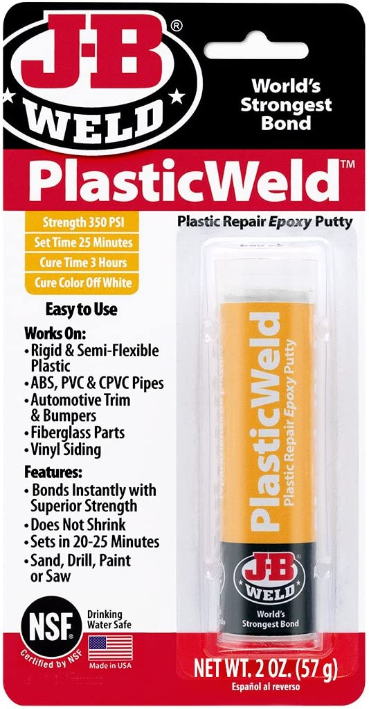 J-B Weld PlasticWeld Plastic Repair Epoxy