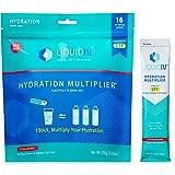 Liquid I.V. Hydration Multiplier - Strawberry - Hydration Powder Packets | Electrolyte Supplement Drink Mix | Low Sugar | Eas