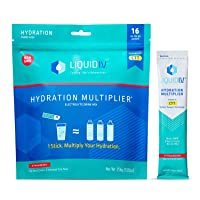 Liquid I.V. Hydration Multiplier, Electrolyte Powder, Easy Open Packets, Supplement Drink Mix (Strawberry) (16)