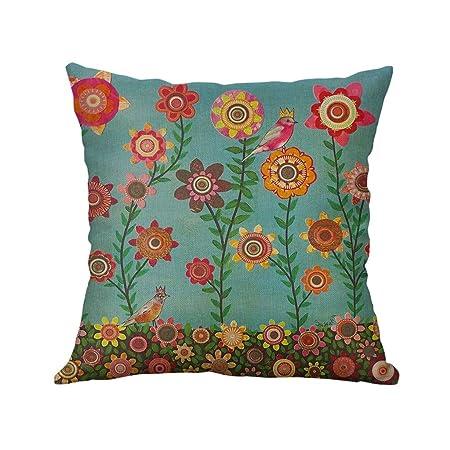 Suave Simple Lino Creative Lovely Pillow Cover Funda De Almohada Duradero Car Pillow Cover para Coche Bar Pub VECDY Cojines Decoracion con exclusi/ón de Almohada 45X45cm-B