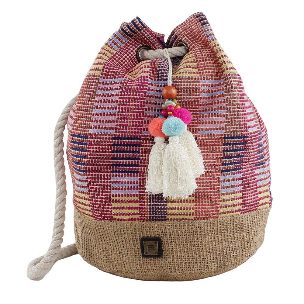 Bluebags Hari Mochila Étnica Nature, Bolsa de tela y de playa para Mujer, Azul 27 x 27 x 37 cm: Amazon.es: Zapatos y complementos