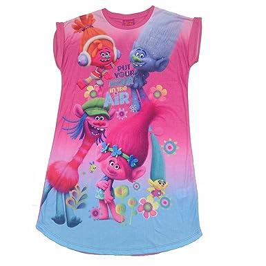 b3a5178c2 DreamWorks Girls Trolls Short Nightdress Guy Diamond Poppy Nightie (Age 11  Years): Amazon.co.uk: Clothing