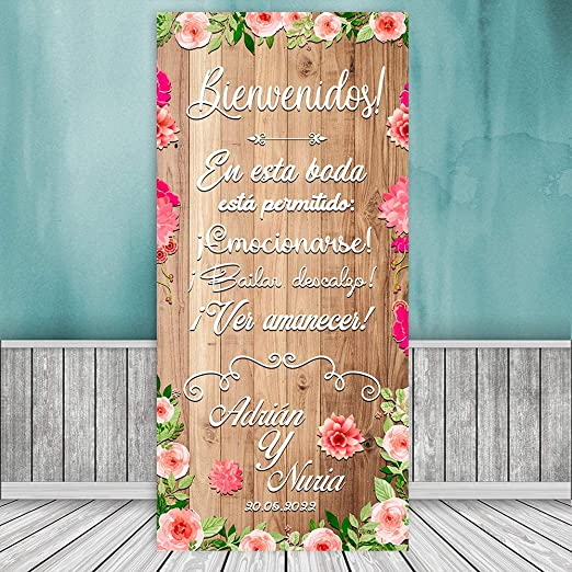 Decoración Boda | Cartel Boda Emotion | 70cm x 150cm: Amazon ...
