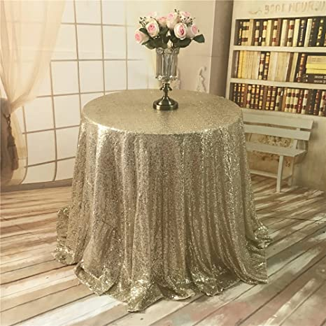 0afd7ceca2d81 Image Unavailable. Image not available for. Color  TRLYC Light Gold Sequin  Tablecloth ...