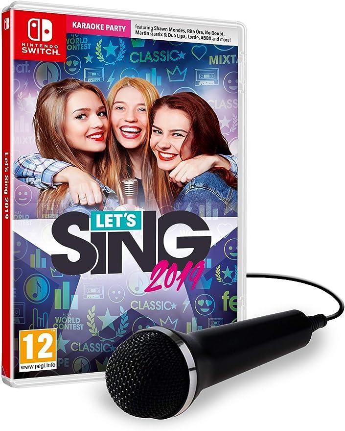 Lets Sing 2019 + 1 Microphone - Nintendo Switch [Importación inglesa]: Amazon.es: Videojuegos