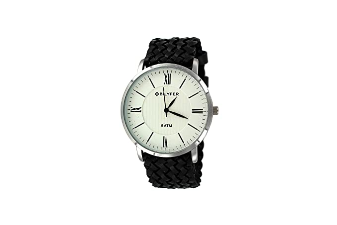Reloj Bilyfer para Mujer con Correa Negra y Pantalla en Blanco 2W434B-N: Amazon.es: Relojes