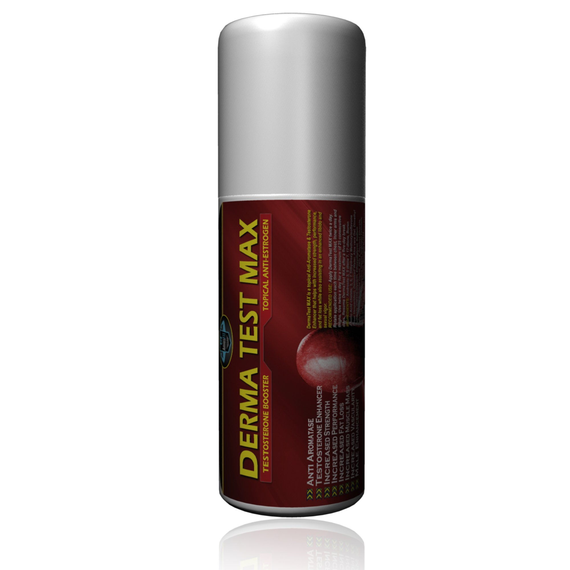 DermaTEST Max (BOGO) - Roll On Anti-Estrogen, Aromatase Inhibitor - (2 Cycles in 1 Bottle) Lean, Hard, Dry - DHEA, LOW T, Libido & Testosterone Booster, Alpha Male, Fast Acting, SAFE to use - 3.5oz