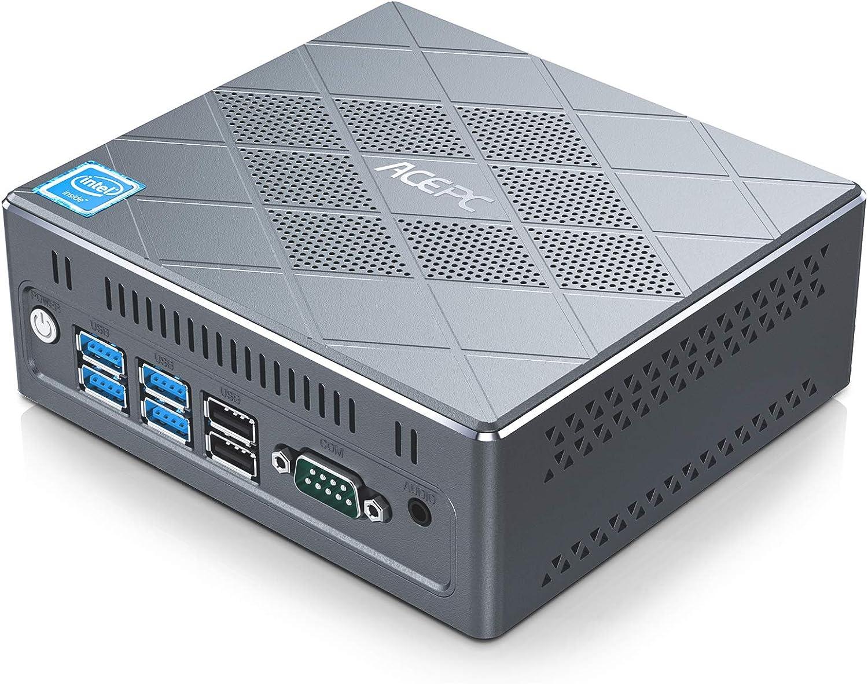 ACEPC Mini PC, Intel Core i5-5257U Mini Computer 8GB RAM/128GB ROM Windows 10 Pro 4K Micro Desktop Computer Support Triple Display, 2.5'' SSD /6 USB Ports/ RS232 COM/WiFi/2 LAN/HTPC for Home Business