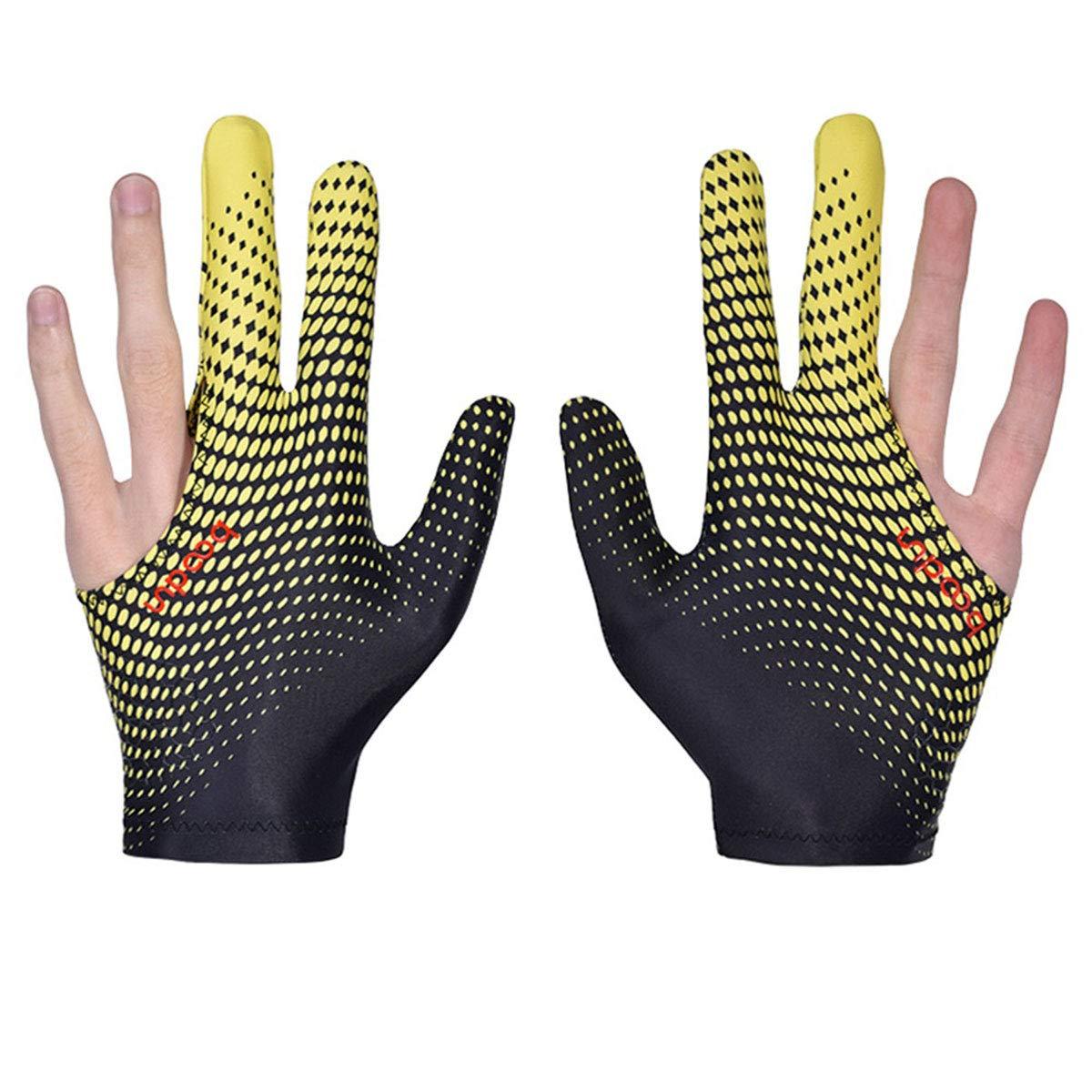 3-Finger-Billardpool Snooker Queuehandschuhe Billardzubeh/ör MHOYI Billardhandschuhe Snookerhandschuhe Linksh/änder Billard-Poolhandschuhe