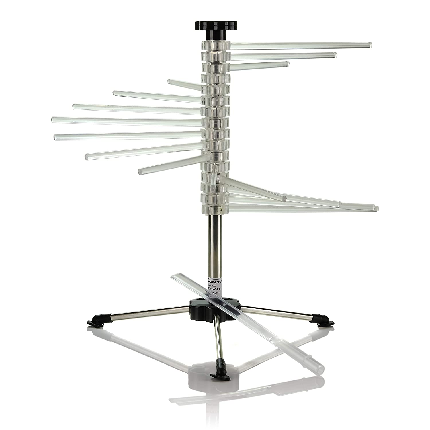 Ovente ACPPA900C Spiral Drying Rack with 16 Wand, BPA-Free Acrylic Rods, B pasta-makers