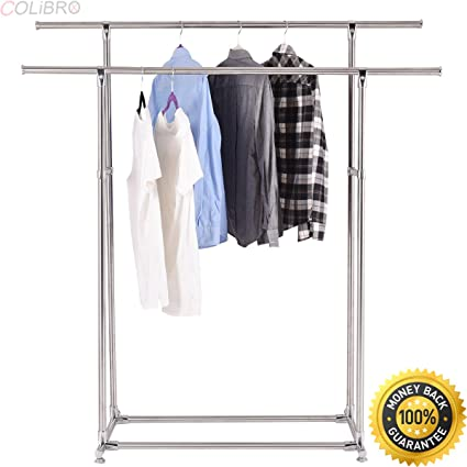Clothesline Wire Lowes | Amazon Com Colibrox Heavy Duty Stainless Steel Double Rail Garment