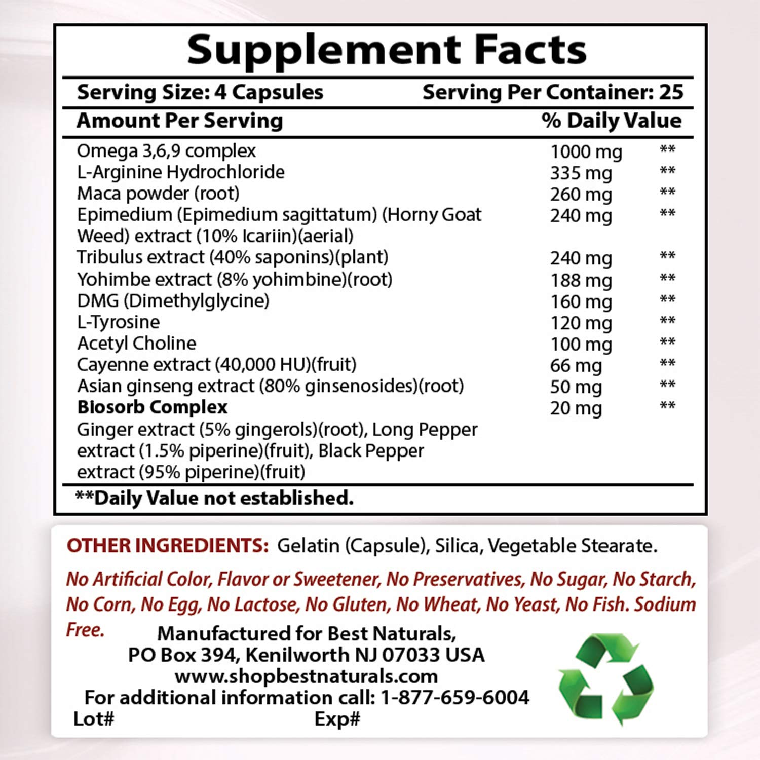 BEST NATURALS Strong Libido 100 Capsules, 0.02 Pound by Best Naturals (Image #4)