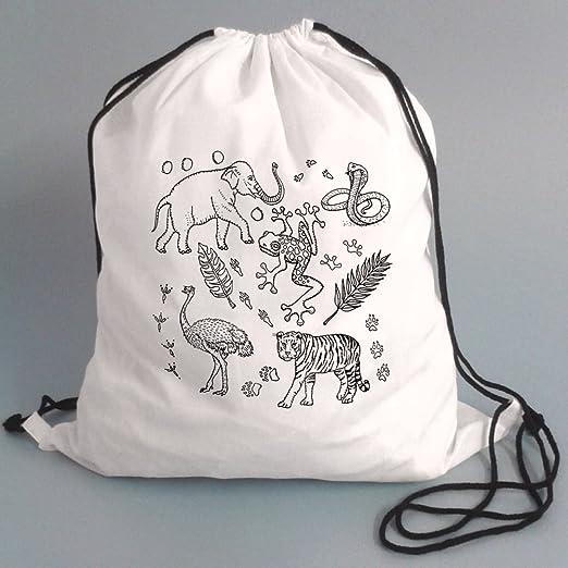 Cordón de gimnasia Bolsas para niños, en color. Diseño de esquema ...