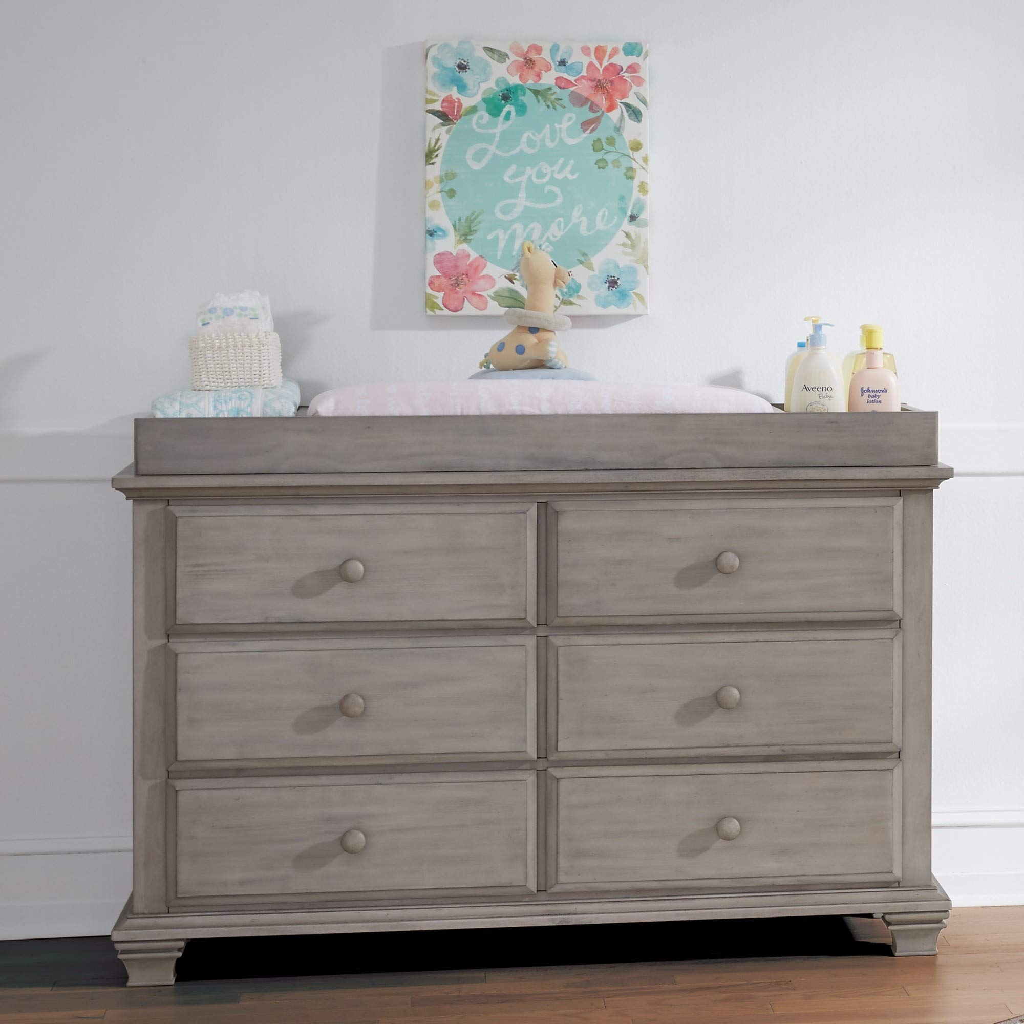 Oxford Baby Kenilworth 6 Drawer Dresser, Stone Wash by Oxford Baby