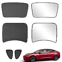 Xipoo Fit Tesla Model 3 Sun Shades Glass Roof Sunshade Sunroof Rear Window Sunshade Foldable for Tesla Model 3…